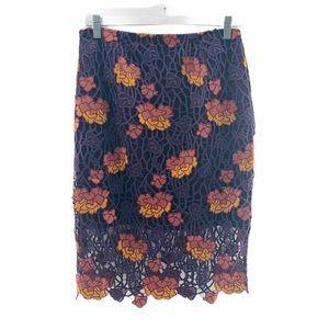 NWT Anthro Foxiedox 'Dolores' Crochet Midi Skirt